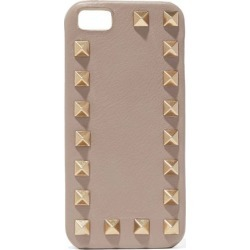 Valentino Garavani Woman Studded Textured-leather Iphone Case Mushroom Size - found on Bargain Bro India from The Outnet US for $145.00