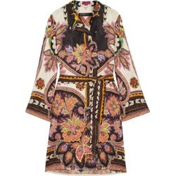 Etro Woman Belted Printed Satin-jacquard Dress Orange Size 40 found on MODAPINS from theoutnet.com UK for USD $837.77