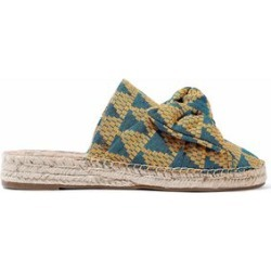 Sam Edelman Woman Bow-embellished Jacquard Espadrille Sandals Yellow Size 6