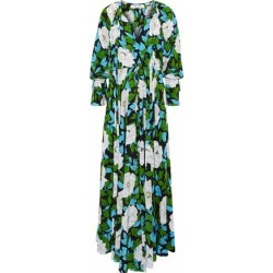 Diane Von Furstenberg Woman Pleated Floral-print Silk Maxi Dress Ivory Size XS found on MODAPINS from theoutnet.com UK for USD $343.56