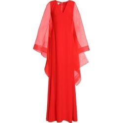 Antonio Berardi Woman Draped Organza And Crepe Gown Tomato Red Size 40 found on MODAPINS from theoutnet.com UK for USD $964.73