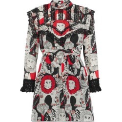Anna Sui Woman Lace-trimmed Printed Cotton Mini Dress Black Size 8 found on MODAPINS from theoutnet.com UK for USD $317.24