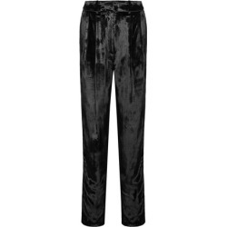 Adam Lippes Woman Pleated Velour Tapered Pants Black Size 12 found on MODAPINS from The Outnet US for USD $297.00