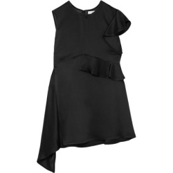 Adeam Woman Asymmetric Ruffled Satin Top Black Size 10 found on MODAPINS from The Outnet US for USD $347.00