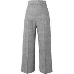 Antonio Berardi Woman Prince Of Wales Checked Wool-blend Wide-leg Pants Black Size 40 found on MODAPINS from The Outnet US for USD $579.00