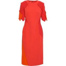 Antonio Berardi Woman Paneled Crepe And Ponte Midi Dress Tomato Red Size 40 found on MODAPINS from theoutnet.com UK for USD $803.83