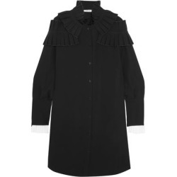 Adeam Woman Ruffled Crepe Shirt Dress Black Size M found on MODAPINS from The Outnet US for USD $562.00