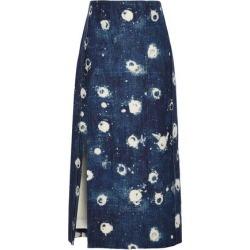 Adam Lippes Woman Bleached Denim Midi Skirt Dark Denim Size 4 found on MODAPINS from theoutnet.com UK for USD $677.88