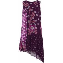 Anna Sui Woman Asymmetric Paneled Printed Silk-chiffon Mini Dress Violet Size 10 found on MODAPINS from theoutnet.com UK for USD $334.87