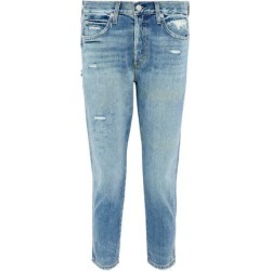 Amo Woman Distressed High-rise Slim-leg Jeans Light Denim Size 32 found on MODAPINS from theoutnet.com UK for USD $157.11