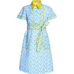 cb8346b40941 Delpozo Woman Embroidered Cotton-gauze Dress Light Blue Size 38 found on  MODAPINS from theoutnet