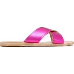 Ancient Greek Sandals Woman Thais Leather Sandals Fuchsia Size 37 found on MODAPINS from theoutnet.com UK for USD $108.91