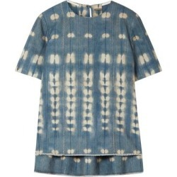 Adam Lippes Woman Metallic Tie-dyed Denim Top Mid Denim Size 4 found on MODAPINS from The Outnet US for USD $277.00