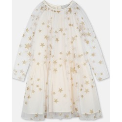 Stella McCartney Kids Cream Gold Stars Tulle Dress, Women's, Size 4 found on Bargain Bro UK from Stella McCartney UK