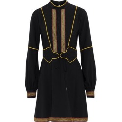Anna Sui Woman Embroidered Crepe Mini Dress Black Size 8 found on MODAPINS from theoutnet.com UK for USD $346.20