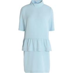 Ganni Woman Crepe Peplum Mini Dress Sky Blue Size 38 found on MODAPINS from theoutnet.com UK for USD $84.57