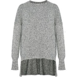 Adam Lippes Woman Marled Cotton, Cashmere And Silk-blend Sweater Navy Size XS found on MODAPINS from The Outnet US for USD $310.00