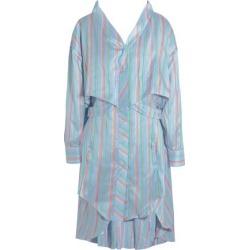 Esteban Cortazar Woman Asymmetric Striped Silk Mini Dress Light Blue Size 40 found on MODAPINS from theoutnet.com UK for USD $469.10