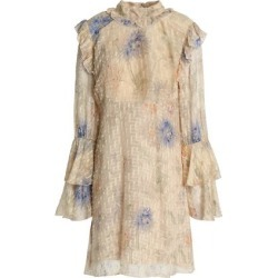 Anna Sui Woman Floral-print Fil Coupé Cotton And Silk-blend Mini Dress Beige Size 10 found on MODAPINS from theoutnet.com UK for USD $373.89