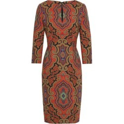 Etro Woman Printed Stretch-wool Dress Light Brown Size 38 found on MODAPINS from theoutnet.com UK for USD $751.87
