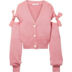 Adeam Woman Tie-detailed Cotton-blend Cardigan Baby Pink Size L found on MODAPINS from The Outnet US for USD $395.00