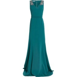 Antonio Berardi Woman Embellished Crepe Gown Teal Size 42 found on MODAPINS from theoutnet.com UK for USD $1280.28