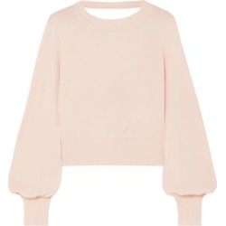 Adeam Woman Open-back Knotted Stretch-knit Sweater Pastel Pink Size L found on MODAPINS from The Outnet US for USD $232.00
