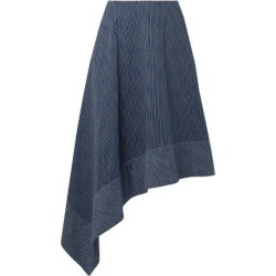 Adam Lippes Woman Asymmetric Striped Cotton Midi Skirt Navy Size 8 found on MODAPINS from theoutnet.com UK for USD $462.49