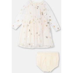 Stella McCartney Kids Cream Gold Stars Tulle Dress, Unisex, Size 21-24 found on Bargain Bro UK from Stella McCartney UK
