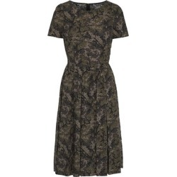 Dolce & Gabbana Woman Pleated Printed Cotton-poplin Dress Sage Green Size 40 found on MODAPINS from theoutnet.com UK for USD $551.02