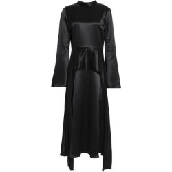 Beaufille Woman Layered Satin-crepe Midi Dress Black Size 0 found on MODAPINS from theoutnet.com UK for USD $387.74