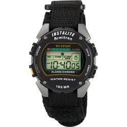 Armitron Sport Mens Chronograph Instalite Black Digital Watch Black - Armitron Watches