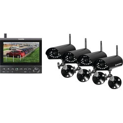 """Security Man 7"""" LCD Monitor/DVR with 4 Wireless Cameras Black - Security Man Smart Home Automation"""