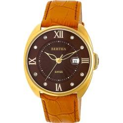 Bertha Watches Amelia Leather Ladies Watch Camel - Bertha Watches Watches