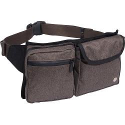 TOKEN Tweed Lexington Waist Bag Dark Brown - TOKEN Waist Packs