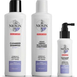 Nioxin 3-Part System Kit 5 For Chemically Treated Hair With Light Thinning found on Makeup Collection from Feelunique (EU) for GBP 39.68