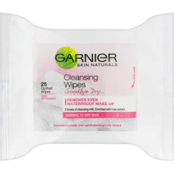 Garnier Skin Naturals Soft Essentials Wipes Cleansing Wipes x 25 found on Makeup Collection from Feelunique (UK) for GBP 3.59