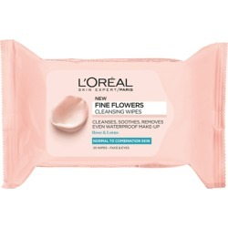 L'Oréal Paris Fine Flowers Cleansing Wipes Normal to Combination Skin 25 Wipes