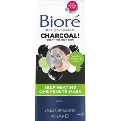 Biore Charcoal Self Heating Mask 4pk found on Makeup Collection from Feelunique (UK) for GBP 8.72