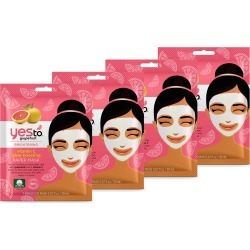 Yes To Grapefruit Paper Mask 4 Pack found on Makeup Collection from Feelunique (EU) for GBP 13.94