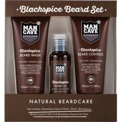ManCave BlackSpice 3 Piece Beard Set found on Makeup Collection from Feelunique (UK) for GBP 21.59