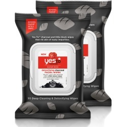 Yes To Tomatoes Clear Skin Detoxifying Charcoal Facial Wipes X 2 found on Bargain Bro UK from Feelunique (UK)