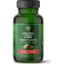 Vitality CBD 10mg Turmeric Vitamin Supplement x 30 found on Makeup Collection from Feelunique (UK) for GBP 23.76