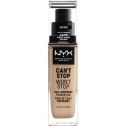 NYX Professional Makeup Can't Stop Won't Stop 24 Hour Foundation 30ml Natural (Light/Medium, Neutral) found on Makeup Collection from Feelunique (UK) for GBP 16.35