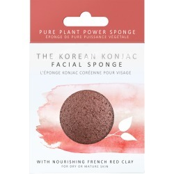 The Konjac Sponge Company 100% Natural Vegetable Fibre Sponge With French Red Clay found on Bargain Bro UK from Feelunique (EU)