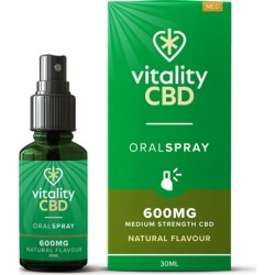 Vitality CBD Natural Flavour Oral Spray with MCT Oil 600mg 30ml found on Makeup Collection from Feelunique (UK) for GBP 20.34