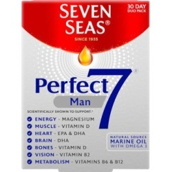 Seven Seas Perfect 7 Man 30 Tablets and 30 Capsules found on Makeup Collection from Feelunique (UK) for GBP 11.72