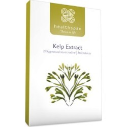 Healthspan Kelp Extract 360 Tablets found on Makeup Collection from Feelunique (UK) for GBP 14.12
