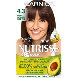 Garnier Nutrisse Cream Nourishing Permanent Hair Colour 4.3 - Dark Golden Brown found on Makeup Collection from Feelunique (UK) for GBP 6.32