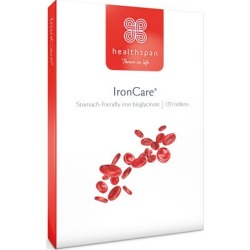 Healthspan IronCare 120 Tablets found on Makeup Collection from Feelunique (UK) for GBP 7.07